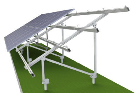Lắp đặt khung giá đỡ tấm pin mặt trời