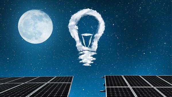 Một tấm pin mặt trời hoạt động vào ban đêm?
